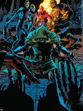 Fantastic Four No.566 Cover: Dr. Doom, Thing, Invisible Woman, Human Torch and Mr. Fantastic Plastic Sign by Bryan Hitch