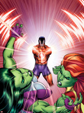 She-Hulks No.3 Cover: She-Hulk, Lyra, and Klaw Plastic Sign by Ed McGuinness