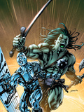 Skaar: Son Of Hulk No.8 Cover: Skaar and Silver Surfer Plastic Sign by David Yardin