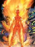 Fantastic Four No.521 Cover: Storm, Sue, Thing, Mr. Fantastic and Human Torch Plastic Sign by Mike Wieringo