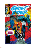 Ghost Rider No.39 Cover: Ghost Rider and Vengeance Fighting Plastic Sign by Ron Garney