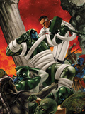 FF No.11 Cover: Mr. Fantastic and Ronan The Accuser Fighting Plastic Sign by Steve Epting
