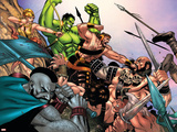Hulk Vs. Hercules: When Titans Collide No.1 Group: Hulk, Thor and Dr. Strange Plastic Sign by Eric Nguyen