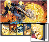 Ghost Rider No.0.1: Panels with Ghost Rider Flaming and Riding a Motorcycle Prints by Matthew Clark