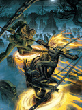 Ghost Riders: Heavens On Fire No.4 Cover: Ghost Rider and Scarecrow Plastic Sign by Dustin Weaver