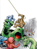 Marvel Monsters: Fin Fang Four No.1 Cover: Fin Fang Foom Plastic Sign by Eric Powell