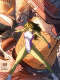 She-Hulk No.37 Cover: She-Hulk Plastic Sign by Vincenzo Cucca