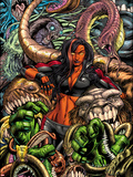 Incredible Hulks No.630 Cover: Red She-Hulk Plastic Sign by Paul Pelletier