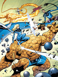 Marvel Adventures Fantastic Four No.31 Cover: Thing and Invisible Woman Plastic Sign by Kirk Leonard