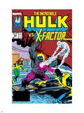 Incredible Hulk No.336 Cover: Iceman, Grey, Jean, Cyclops, Hulk and X-Factor Crouching Plastic Sign by Todd McFarlane