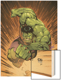 Marvel Adventures Hulk No.14 Cover: Hulk Wood Print by David Nakayama