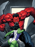 King Size Hulk No.1 Cover: She-Hulk and Rulk Wall Decal by Frank Cho
