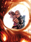 Ghost Rider No.7 Cover: Hawkeye Shooting a Bow and Arrow, Seen in a Reflection Plastic Sign by Stefano Caselli