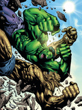 Hulk: Destruction No.4 Cover: Abomination and Hulk Wall Decal by Jim Muniz