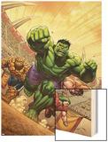 Marvel Adventures Hulk No.12 Cover: Hulk, Thing and Juggernaut Posters by David Nakayama