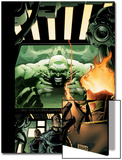 Incredible Hulk No.84 Cover: Hulk, Pyro and Vanisher Print by Andy Brase