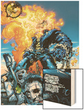 Ghost Rider V3 No.6 Cover: Ghost Rider and Gunmetal Gray Wood Print by Trent Kaniuga