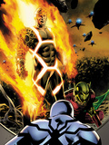 Fantastic Four No.600 Cover: Human Torch and Annihilus Láminas por Steve Epting