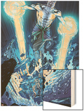 Incredible Hulks: Enigma Force No.3: Hiro-Kala Flying Wood Print by Miguel Munera