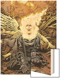 Ghost Rider No.18 Cover: Ghost Rider Wood Print by Tony Moore