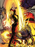 Ghost Rider No.9 Cover: Ghost Rider Fighting Plastic Sign by  Blankas