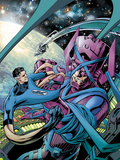 Fantastic Four No.586 Cover: Mr. Fantastic and Galactus Fighting Pósters por Alan Davis