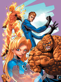 Marvel Age Fantastic Four No.9 Cover: Mr. Fantastic Plastic Sign by Makoto Nakatsuka