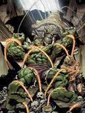 Incredible Hulks No.624: Miek has Trapped Hulk and Kazar Plastic Sign by Dale Eaglesham