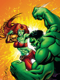 Hulk Team-Up No.1: Lyra and Hulk Plastic Sign by Steve Scott