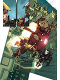 Iron Man 2.0 No.1: Iron Man and War Machine Plastic Sign by Barry Kitson