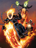 Ghost Riders: Heavens on Fire No.5 Cover: Ghost Rider Plastic Sign by Greg Land