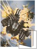 War Machine No.1 Cover: War Machine Wood Print by Leonardo Manco
