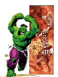 Hulk Smash Avengers No.1 Cover: Hulk Running and Screaming Plastic Sign by Lee Weeks