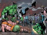 Incredible Hulk No.107 Group: Hulk, Hercules, Namora, Cho, Amadeus and Angel Plastic Sign by Gary Frank