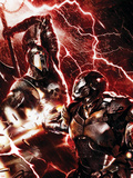 War Machine No.3 Cover: War Machine and Ares Plastic Sign by Francesco Mattina