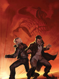 Ghost Rider No.26 Cover: Blaze and Johnny Plastic Sign