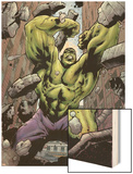 Hulk: Destruction No.1 Cover: Hulk Wood Print by Jim Muniz