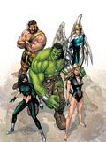 Incredible Hulk No.109 Cover: Hulk, Namora, Hercules, Angel, Black and Carmilla Plastic Sign by Carlo Pagulayan