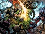 Incredible Hulk No.607 Group: Thor, Skaar, Ronin and Red She-Hulk Plastic Sign by Paul Pelletier