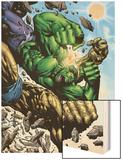 Hulk: Destruction No.4 Cover: Abomination and Hulk Wood Print by Jim Muniz