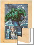 Hulk Team-Up No.1 Group: Hulk, Angel and Iceman Wood Print by Sanford Greene