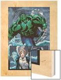 Hulk Team-Up No.1 Group: Hulk, Angel and Iceman Wood Print by Sanford Greene
