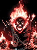 Ghost Rider No.1 Cover: Ghost Rider Flaming Plastic Sign by Adam Kubert