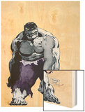 Hulk Gray No.1 Cover: Hulk Wood Print by Tim Sale