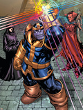 What If Newer Fantastic Four No.1 Group: Thanos, Death and Mephisto Plastic Sign by Patrick Scherberger