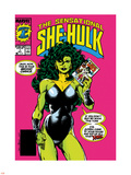 The Sensational She-Hulk No.1 Cover: She-Hulk Plastic Sign by John Byrne