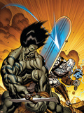 Skaar: Son Of Hulk No.7 Cover: Skaar and Silver Surfer Plastic Sign by Ed McGuinness