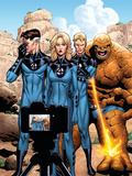 Marvel Adventures Fantastic Four No.42 Cover: Mr. Fantastic, Invisible Woman, Human Torch and Thing Láminas por Clayton Henry