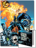 Ghost Rider V3 No.6 Cover: Ghost Rider and Gunmetal Gray Poster by Trent Kaniuga