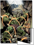 Incredible Hulks No.624: Miek has Trapped Hulk and Kazar Poster by Dale Eaglesham